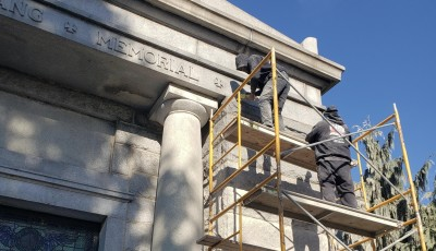 104 Year Old Mausoleum Gets Repairs